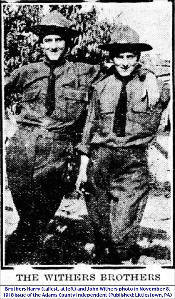 A single shell killed Harry and John Withers, two sons of a York County family, in World War II.