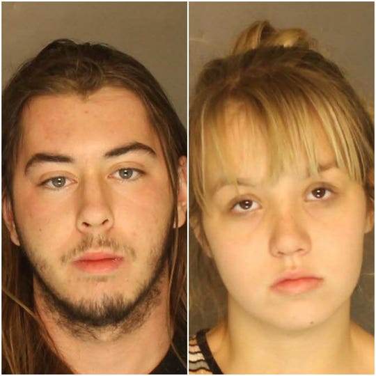 Ashton Michael Tolan (left) and Madyson Ann Workman, arrested in connection with an aggravated assault on Dec. 14 in Hopewell Township, according to Pennsylvania State Police.