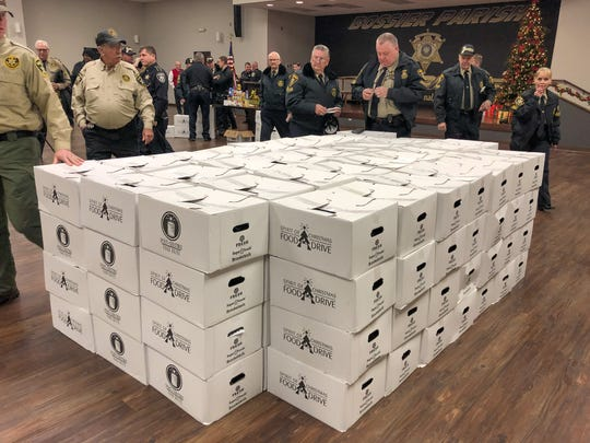 Nearly 400 Spirit of Christmas Food Drive boxes were delivered to elderly residents and others in need on Tuesday, Dec. 17, 2019.