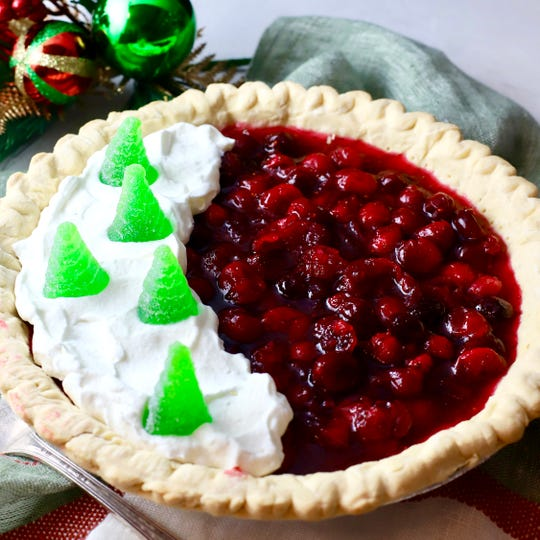 Christmas Cranberry Pie with Orange Marmalade is a tart treat.