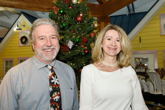 Dr. R. Emmet Kenney and Elizabeth Jacklin at Poinsettia Power!, which raised nearly $85,000 for Martin County Meals on Wheels.