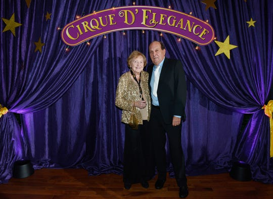 "Miriam Grabow and Jack Ferenz at the ""Cirque D' Elegance … A Night of Wonders"" on Dec. 7, 2019, a benefit for Hibiscus Children's Village."