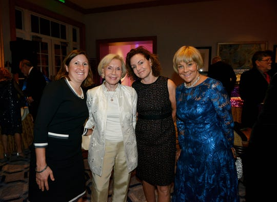 "Julie Thomas, left, Carole Brown, Alison Brown and Tricia Wynne at the ""Cirque D' Elegance … A Night of Wonders"" on Dec. 7, 2019, a benefit for Hibiscus Children's Village."