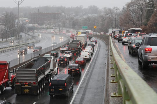 Morning commuters use Central Park Avenue as an alternative to the southbound New York State Thruway,  Dec. 17, 2019.