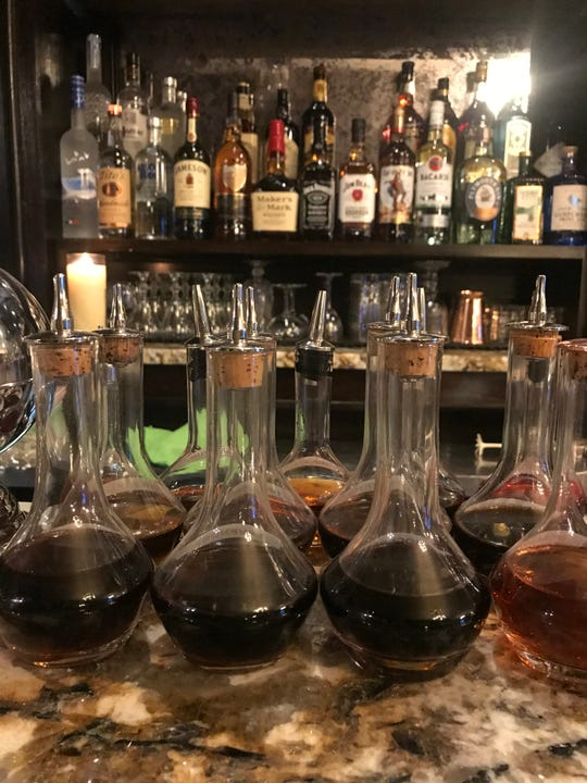 The bar at The Blind Pig of Westchester in White Plains is chock-a-block with tinctures and syrups.
