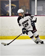 Scarsdale defenseman Calvin Chou has earned Ice Hockey Player of the Week honors, Dec. 17, 2019.