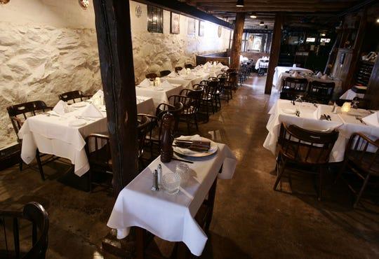 The cellar main dining room at Peter Pratt's Inn in Yorktown, April 6, 2006.