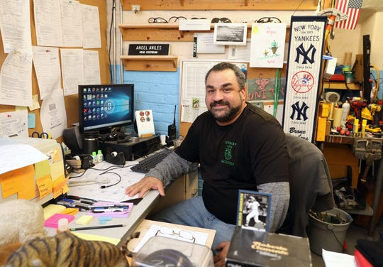 Angel Aviles, the head custodian at the Main Street School in Irvington, is pictured in his office, Dec. 17, 2019. He was nominated by his principal, for the Cintas Corporation's Custodian of the Year Contest and chosen for the top 10 out of almost 4000 nominations.