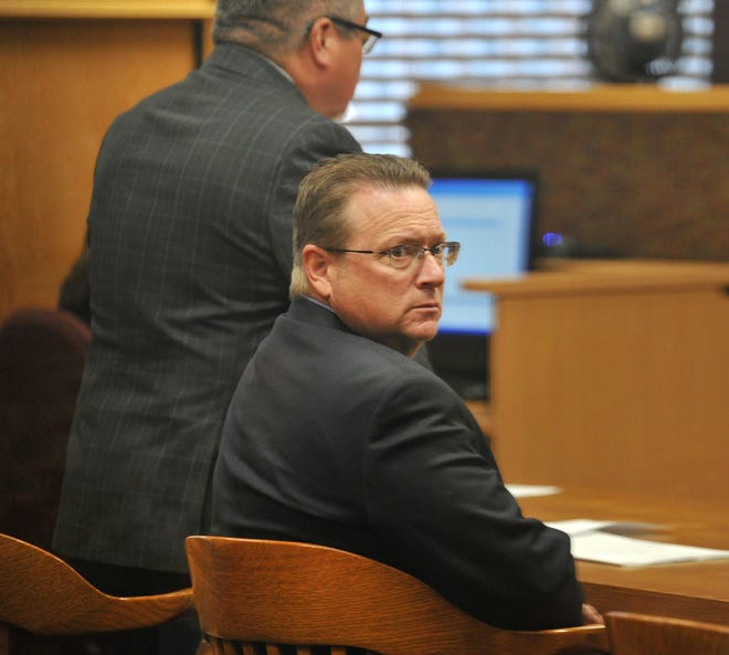 In this file photo, former Wichita Falls deputy city manager Jim Dockery is seen at the County Court at Law 1. Dockery was sentenced Monday in a drug-possession case.