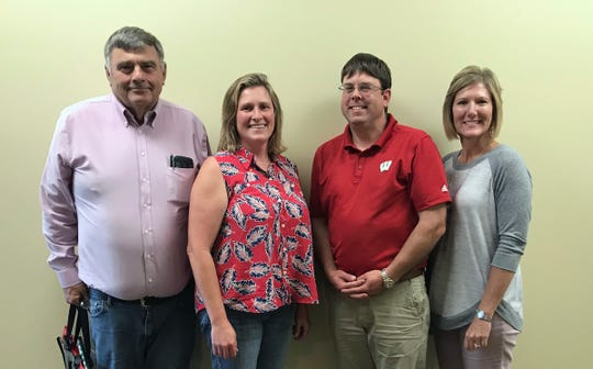 Pictured are outgoing Wisconsin Beef Council board member Dave Koning, of Monroe; new board president Val Gaffney, of Barneveld; past president Arin Crooks, of Lancaster; and Wisconsin Beef Council Executive Director Tammy Vaassen.