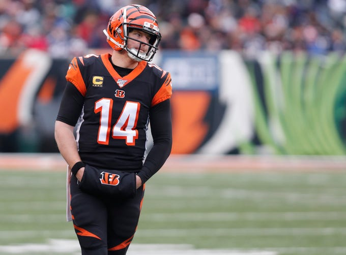 32. Bengals (Previous: 32): Andy Dalton has five INTs in past two starts. Heisman winner (and Ohio native) Joe Burrow had six all season for LSU. Wonder who will be starting in Cincy next year ...