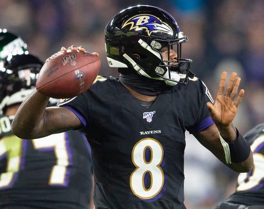 Lamar Jackson, QB de los Baltimore Ravens.