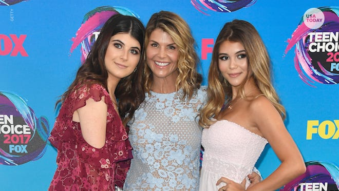 Lori Loughlin is pictured here with her daughters Isabella Rose, left, and Olivia Jade.