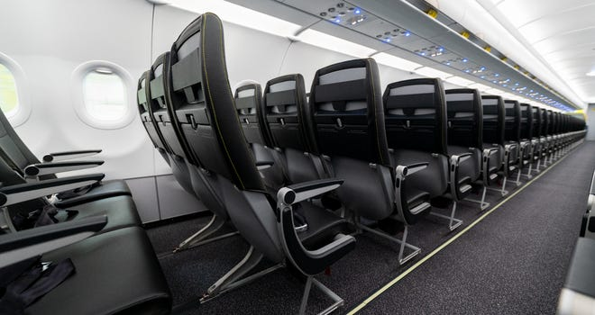 Spirit Airlines Carrier Unveils New Seats Tray Tables