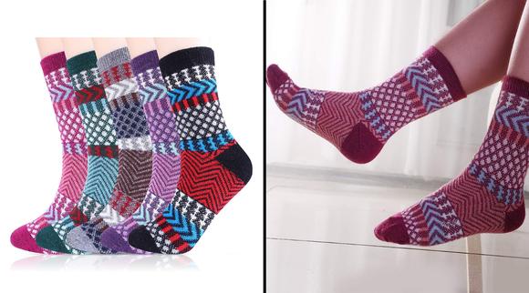 Best gifts under $10 2019: Jeasona Womens Warm Winter Wool Socks (5-pack)