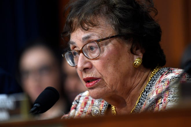 Congresswoman Nita M. Lowey (D-NY) delivers remarks before the House Appropriation subcommittee on April 9, 2019.