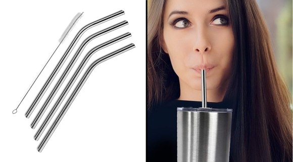 Best gifts under $10 2019: SipWell Stainless Steel Straws (4-pack)