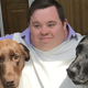 Kevin LeCroy, with his dogs, Cody and Jake.
