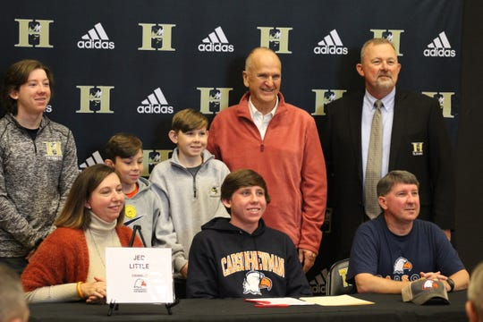 Jed Little signed with Carson-Newman swimming on December 18, 2019 at T.L. Hanna High School.