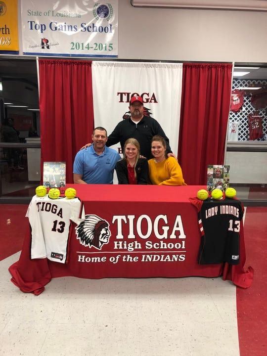 Tioga senior Natalie Martin (first row, center) signed with Baton Rouge Community College Dec. 13.
