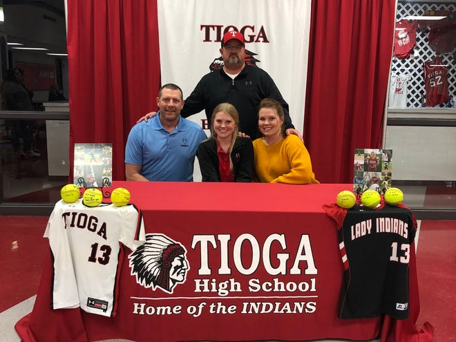 Tioga senior Natalie Martin (first row, center) signed with Baton Rouge Community College Dec. 13.