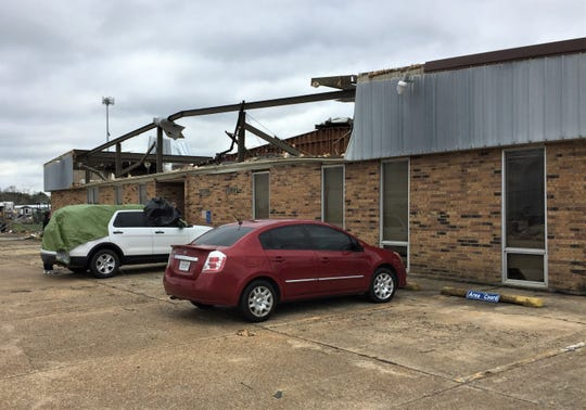 The Rapides Parish HIghway Department facility on Louisiana Highway 28 West is likely a total loss after being damaged in Monday's tornado.