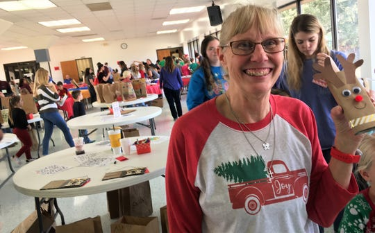 Carlene Crim is children's minister at Wylie United Methodist Church ... and good friends with reindeer.