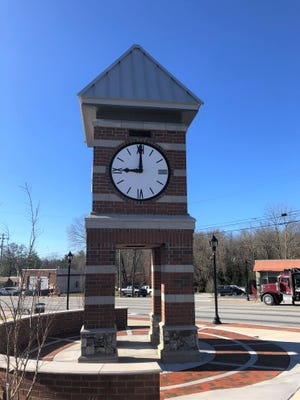 The new Town of Fletcher clock tower has been finished for several weeks, but it's had the same time on it. Power should start running to the clock on Friday, Dec. 20.