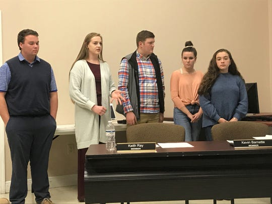 Student government representatives from Madison High School asked the school board to consider buying vape detectors to deter use of e-cigarettes on campus.