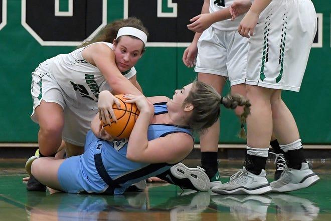 Mountain Heritage took on Watauga in girls basketball at Mountain Heritage High School in Burnsville on Dec. 17, 2019.