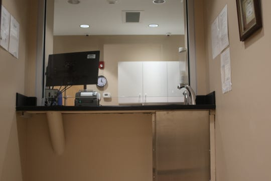 One of three medication dispensary rooms at the new BAART clinic where  patients will take methadone in front of a nurse.