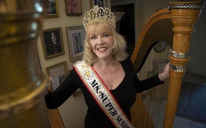 Joanie Helgesen is a classically-trained harpist. Helgesen won the 2019 Ms. Super Senior Universe pageant in Las Vegas on Dec. 12.