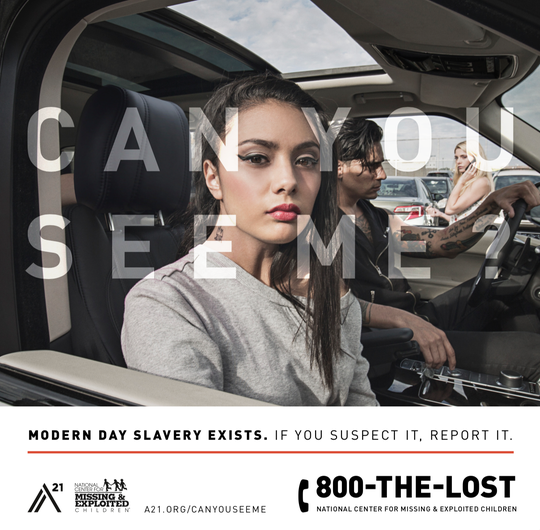 "Gov. Greg Abbott's Child Sex Trafficking Team unveiled a billboard on Wednesday promoting the launch of the statewide media campaign, ""Can You See Me?"""