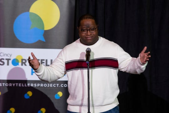 Sales Manager Galen G. Gordon talks about his journey to becoming Santa Claus during the Cincinnati Storytellers Project: Holiday Spectacular, Tuesday, December 17, 2019 at the Transept.