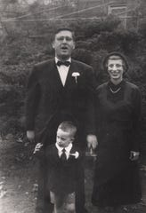 Steven Spielberg as a child with his parents, Arnold and Leah Spielberg, in Cincinnati.