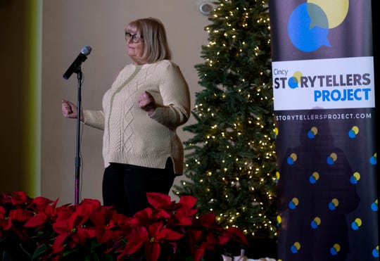 Assistant Breaking News Editor, Jennie Key shares how she and her family made new holiday traditions together after her parents divorce during the Cincinnati Storytellers Project: Holiday Spectacular, Tuesday, December 17, 2019 at the Transept.