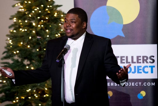 Better Bus Coalition founder, Cam Hardy, tells the story of his great-grandfather's pool hall and how it brought a community together for the holidays during the Cincinnati Storytellers Project: Holiday Spectacular, Tuesday, December 17, 2019 at the Transept.