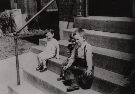 Young Steven Spielberg, right, during his early days living in Cincinnati.