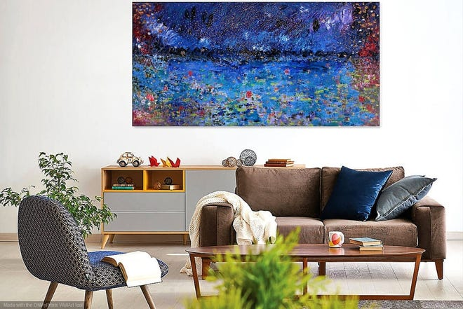 Sukhadas abstract paintings are the perfect gift for the home.