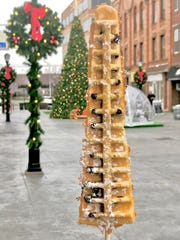 Christmas waffles on a stick from Fresh Tiki Bar.
