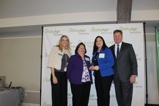 (Left to right) Denise Boudreau-Scott, New Jersey Alliance for Culture Change (NJACC);Colleen Frankenfield, Lutheran Social Ministries of NJ; Candice Pietrzak, Parker and James McCracken, president and CEO of LeadingAge NJ.