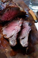 Standing rib roast of beef.
