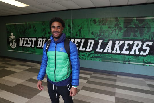 West Bloomfield junior running back Donovan Edwards on Dec. 18, 2019 at West Bloomfield high school.