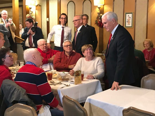 Vice President Mike Pence visits Zehnder's and chats with Michigan residents.