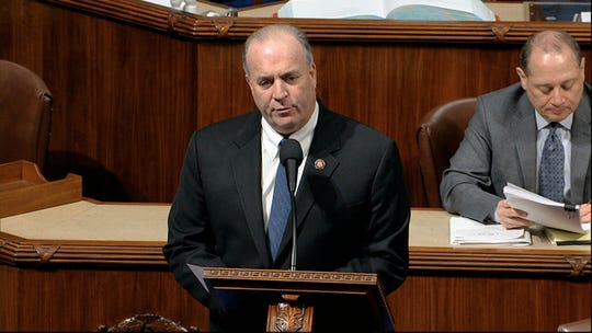 Rep. Dan Kildee, D-Mich., speaks as the House of Representatives debates the articles of impeachment.