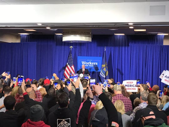 "After an intro from MRP Chairwoman Laura Cox, Vice President Mike Pence has taken the stage. Pence notes he's visited Michigan on a ""blustery day"" and ""a day when there's a lot of bluster in Washington."""