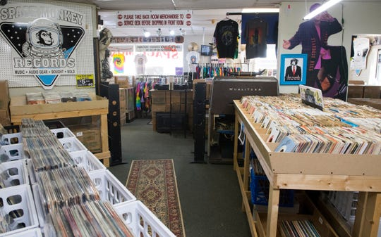 Inside Space Monkey Records at 1201 East Riverside Drive in Evansville, Ind., Thursday, Dec. 12, 2019.