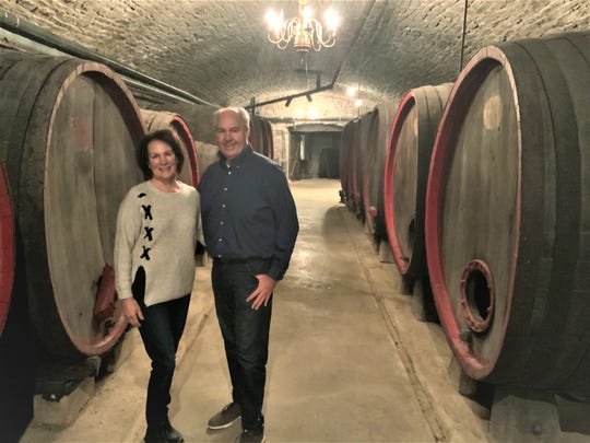 Quintin and Donna Smith, pictured here in the cellars of Historic Mon Ami Winery, have agreed to sponsor a display at Catawba Museum at Union Chapel
