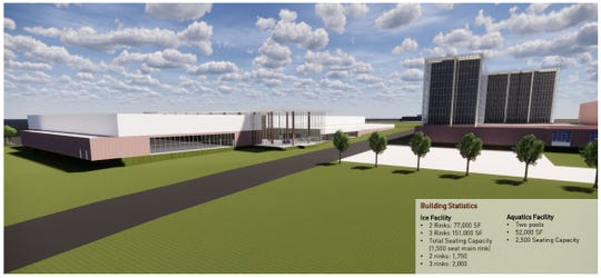 Conceptual design for a new recreational sports facility at The Ranch.