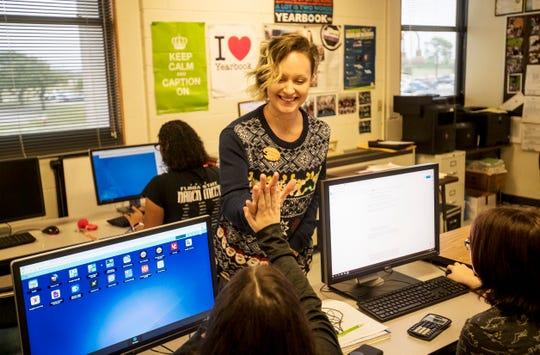 Mariner High School art teacher Samantha Hower was named the Lee County School District's 2019 Teacher of the Year.